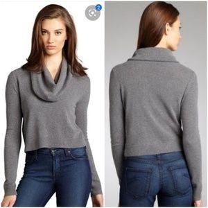 Bcbgmaxazria Samira Wool Cashmere Loose Crop Top